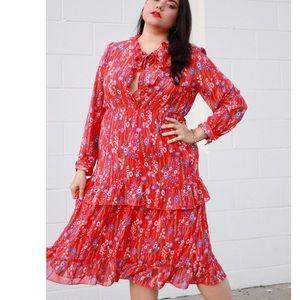 Retro floral dress size 1X